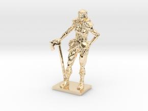 Female Warrior in 14k Gold Plated Brass