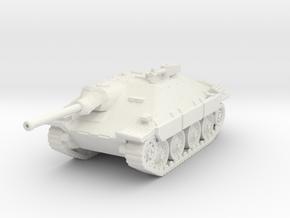 Jagdpanzer 38t Hetzer scale 1/100 in White Natural Versatile Plastic