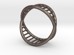 Ring 14 in Polished Bronzed-Silver Steel