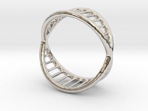 Ring 14 in Rhodium Plated Brass