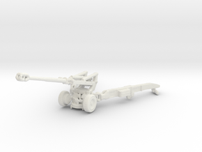 1/100 Scale M198 155mm Howitzer in White Natural Versatile Plastic