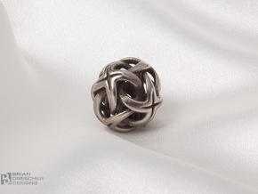 Octa Cross - 20mm in Polished Bronzed Silver Steel