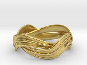 Turban Roll - Ring in Polished Brass (Interlocking Parts)