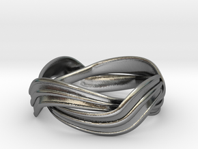 Turban Roll - Ring in Polished Silver (Interlocking Parts)