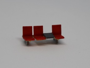 1:150 21x 3 Waiting Room Seats in Smooth Fine Detail Plastic