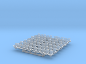 1:150 14x 5 Waiting Room Seats in Smooth Fine Detail Plastic
