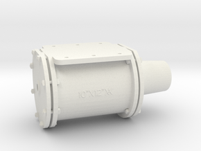 """1-1/2"""" Scale KD Type 10 x 12 Brake Cylinder in White Natural Versatile Plastic"""