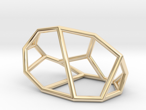 """""""Irregular"""" polyhedron no. 1 in 14k Gold Plated Brass: Small"""