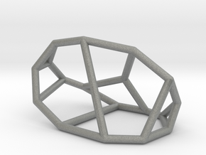 """Irregular"" polyhedron no. 1 in Gray Professional Plastic: Small"