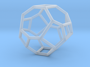 """""""Irregular"""" polyhedron no. 3 in Smooth Fine Detail Plastic: Small"""