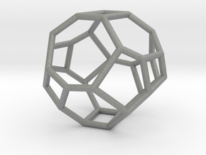 """Irregular"" polyhedron no. 3 in Gray Professional Plastic: Small"