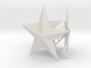 Medium Tree Star in White Natural Versatile Plastic