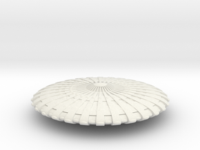 UFO12-N-scale in White Natural Versatile Plastic