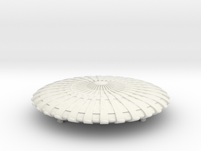 UFO 12 landed N scale in White Natural Versatile Plastic