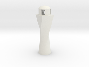 Lighthouse Ornament in White Natural Versatile Plastic