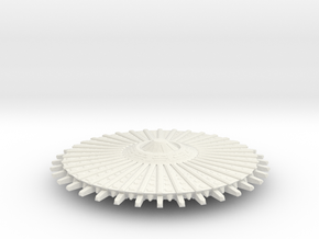 UFO 14 N scale in White Natural Versatile Plastic