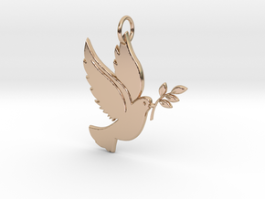 The Bird of Peace Keychain in 14k Rose Gold