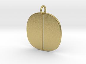Numerical Digit Zero Pendant in Natural Brass