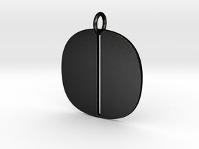 Numerical Digit Zero Pendant in Matte Black Steel