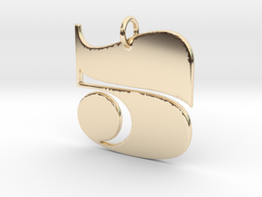 Numerical Digit Five Pendant in 14K Yellow Gold
