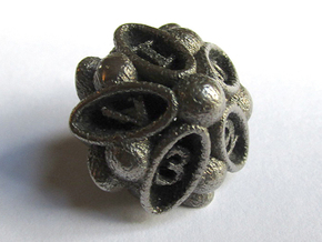 Spore d10 in Polished Bronzed Silver Steel