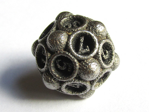 Spore d20 in Polished Bronzed Silver Steel