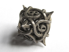 Thorn Die8 in Polished Bronzed Silver Steel