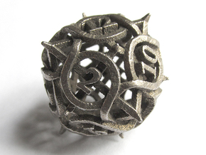 Thorn Die12 in Polished Bronzed Silver Steel