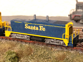 Z Scale EMD TR4 B-Unit (Calf) in Natural Brass