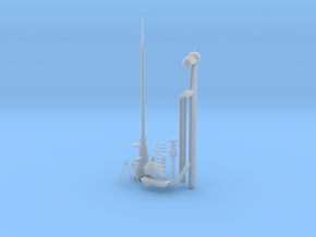 1/32 U-Boot VII C41 Conning Tower Detail KIT v1 in Smooth Fine Detail Plastic
