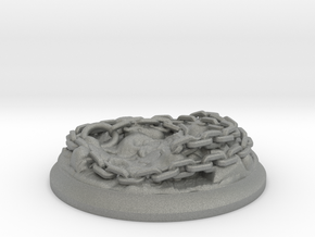 Lava Chains - 40 mm Base for Tabletop Games in Gray Professional Plastic