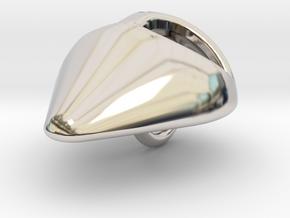 ALIEN PENDANT in Rhodium Plated Brass: Small