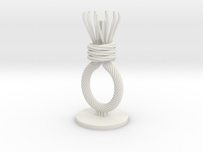 execution rope tealight candle holder in White Natural Versatile Plastic