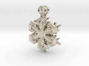 Snowflake Earrings  in 14k White Gold