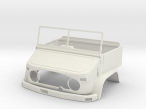 WWII Military Hard Body 1/13,5 like Unimog U404S in White Natural Versatile Plastic