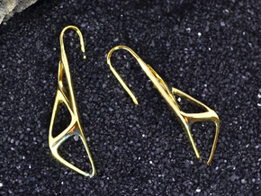 sWINGS Soft Structura, Earrings in 18k Gold Plated Brass