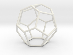 Fullerene with 15 faces in White Natural Versatile Plastic