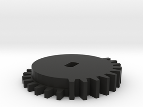 Triang Railways R408 Turntable drive Pinion in Black Natural Versatile Plastic