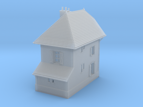 ZBay04 - Barrier Guard House right in Smooth Fine Detail Plastic