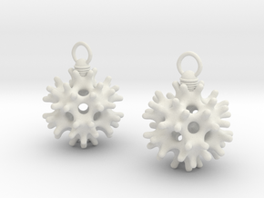 IcoEarrings in White Natural Versatile Plastic