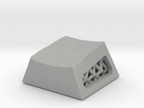 Voronoi Textured Lattice Keycap, Cherry MX  R4 in Aluminum
