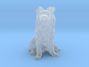 S Scale Border Collie in Smooth Fine Detail Plastic