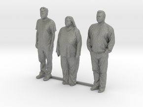 HO Scale people standing 8 in Gray Professional Plastic