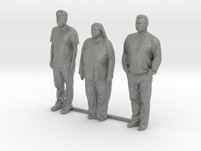 O Scale people standing 8 in Gray PA12