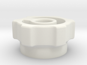 knob indented in White Natural Versatile Plastic