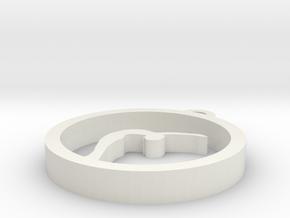 yoga earring pendant in White Natural Versatile Plastic