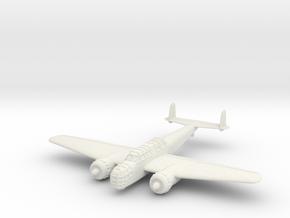 1/144 Henschel Hs-124 in White Natural Versatile Plastic