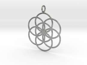 Seed of Life 45mm in Natural Silver