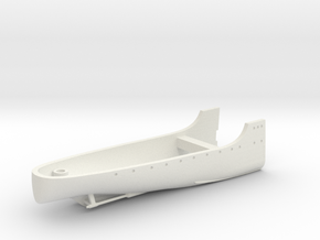 1/350 Minesweeper HMS Harrier Full Hull Stern in White Natural Versatile Plastic