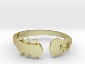 Guitar Ring (Size 9 - contact for custom sizing) in 18k Gold Plated Brass